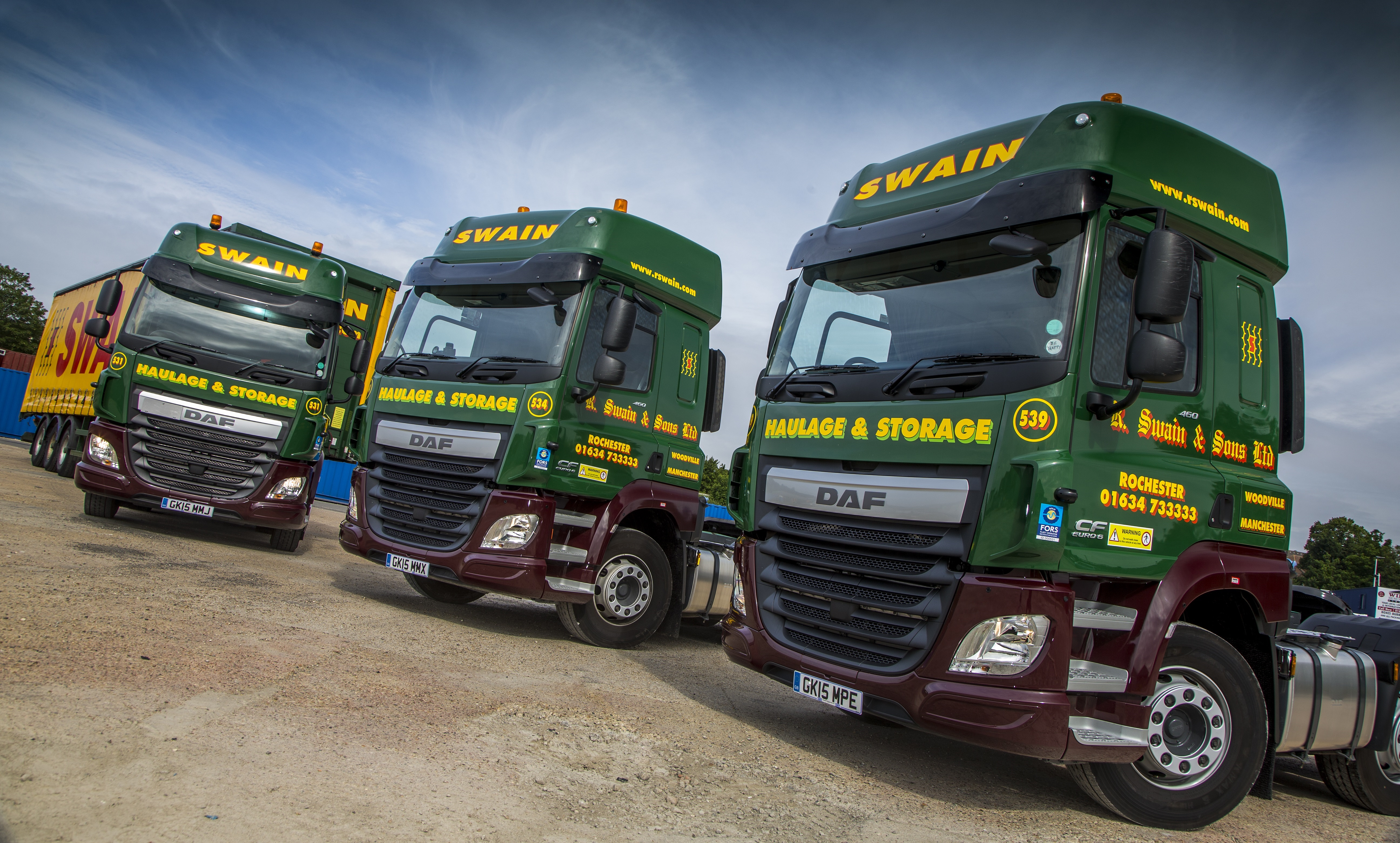 New Daf Fleet Underlines Booming Business At R Swain