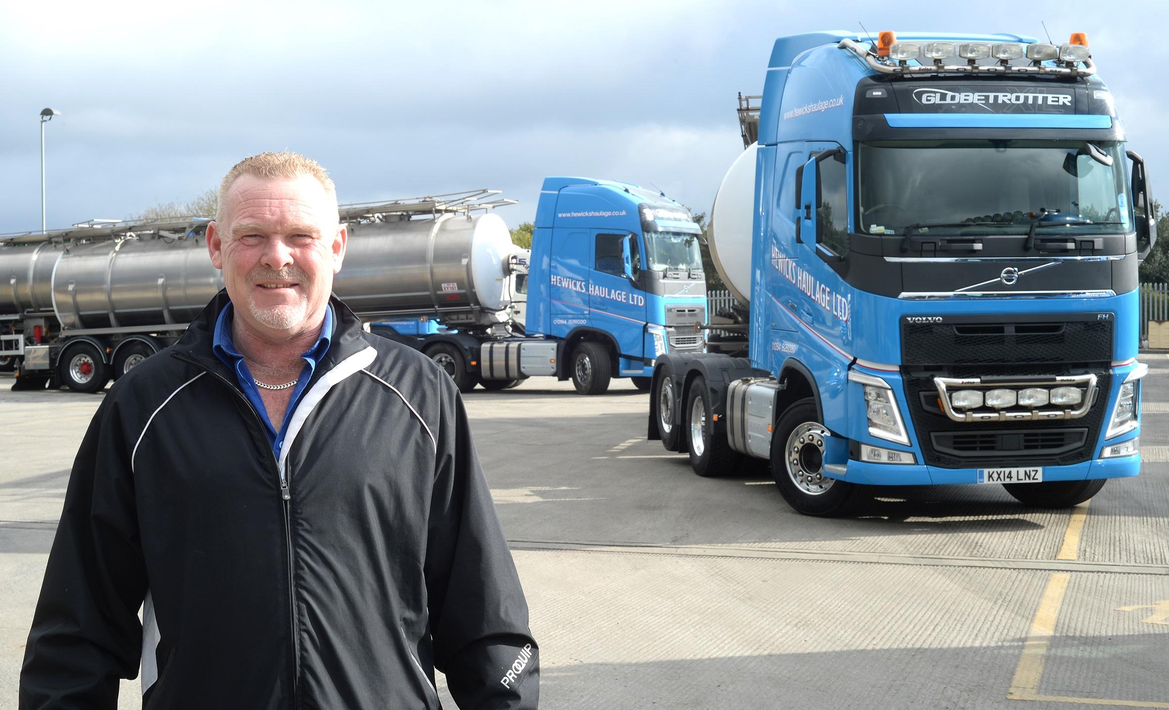 Hewicks Haulage FH Artic Tankers are 'Streets Ahead' | Trucks UK Haulier