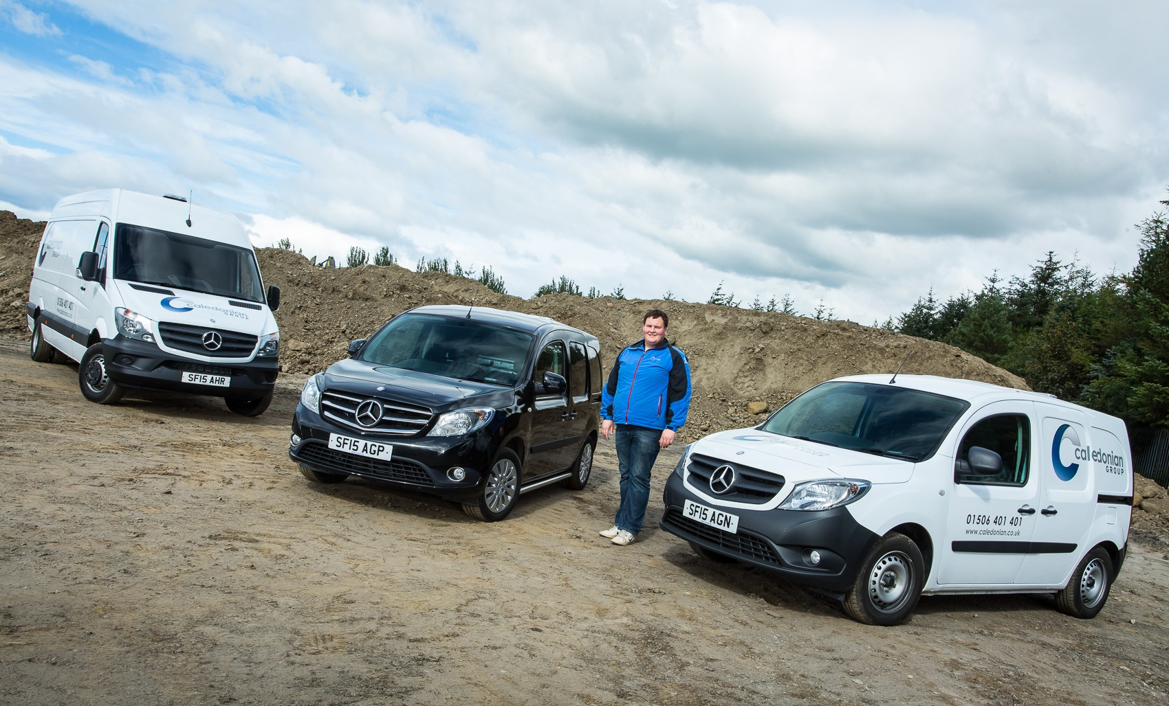 Caledonian group in the black with mercedes benz citan for Mercedes benz work vans
