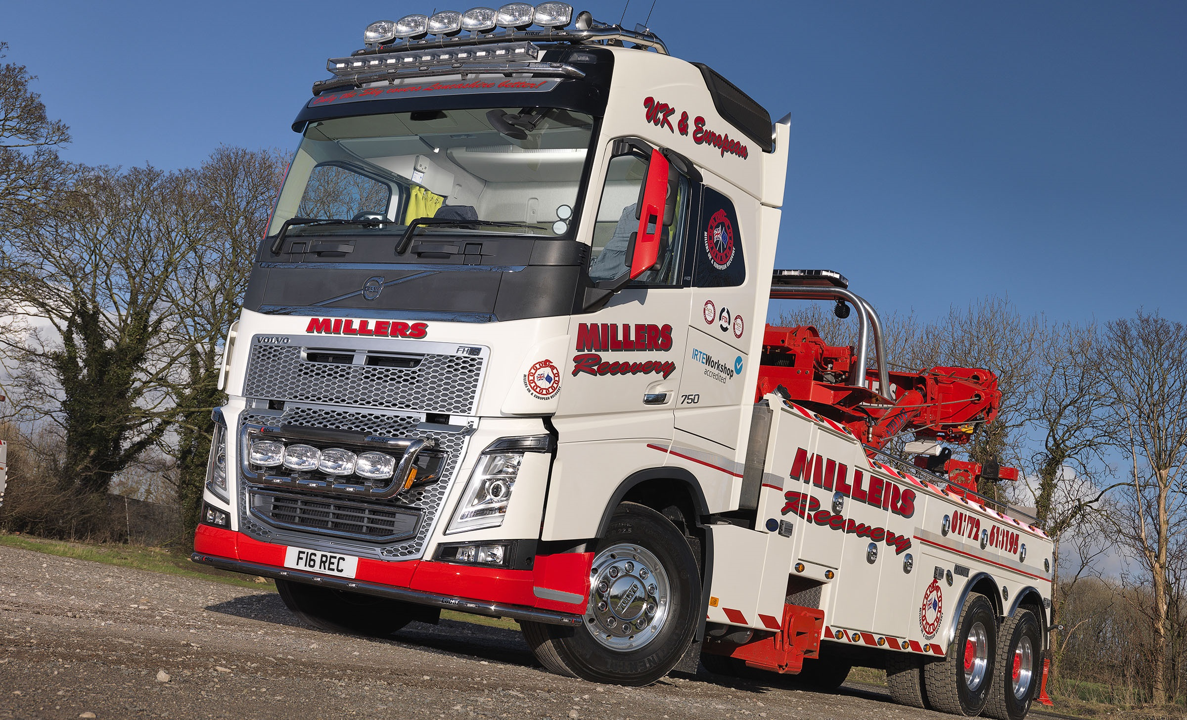 Millers of Longton's first new recovery truck is an FH16-750 | Trucks UK Haulier