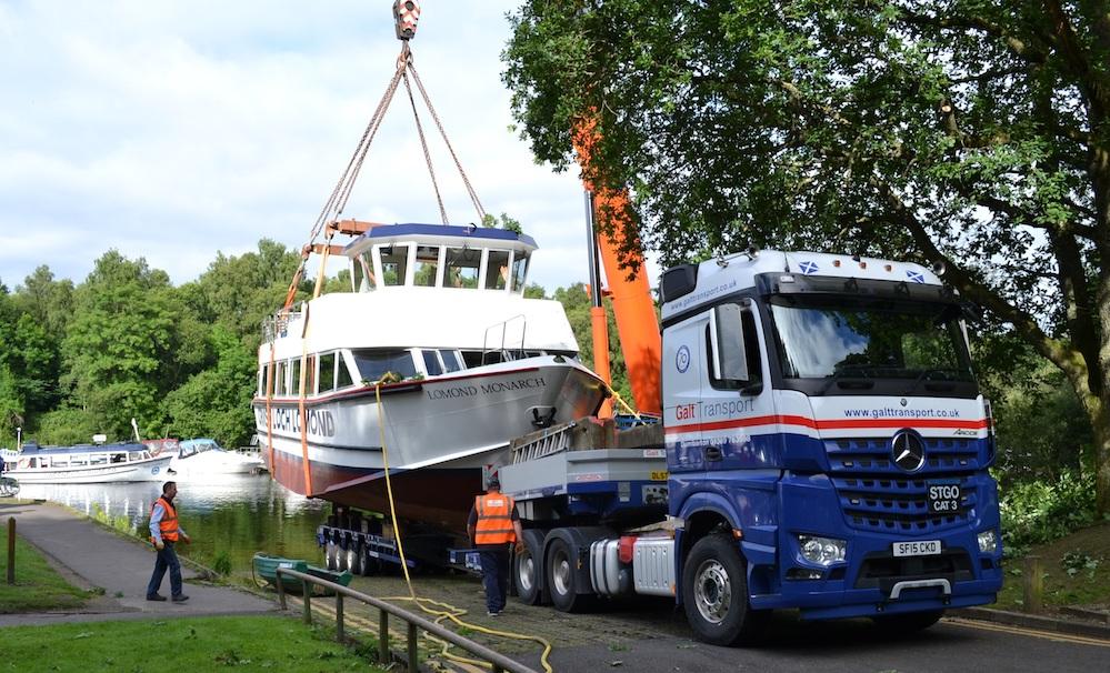Galt Transport Deliver Loch Lomond S Newest Addition