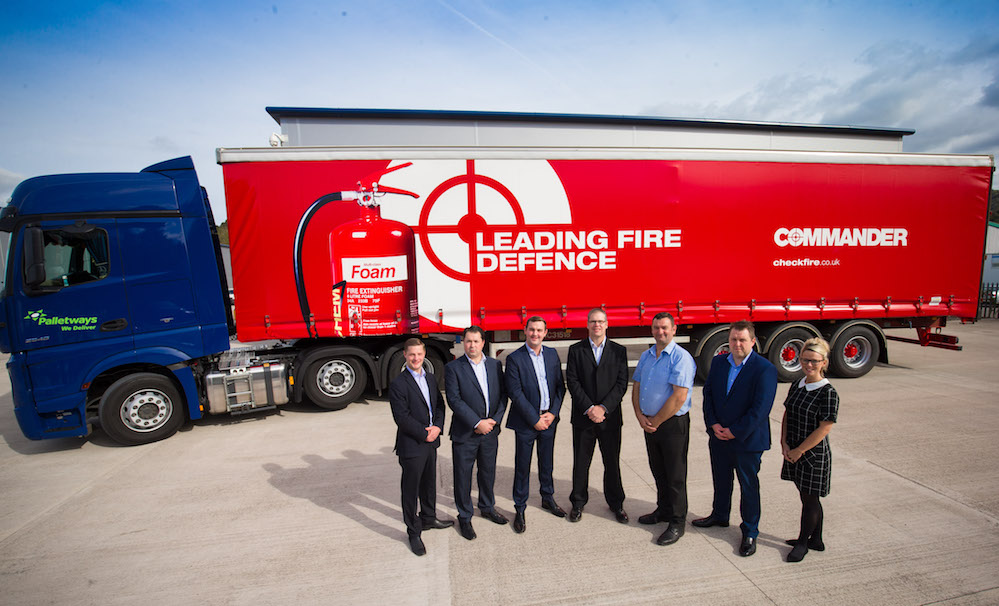 Palletways Cardiff Secures Branded Trailers For Checkfire