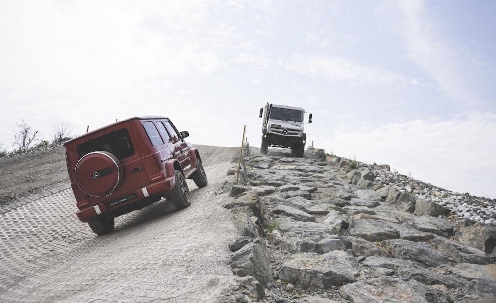 UK Haulier meets Mercedes-Benz off-road giants in Austria