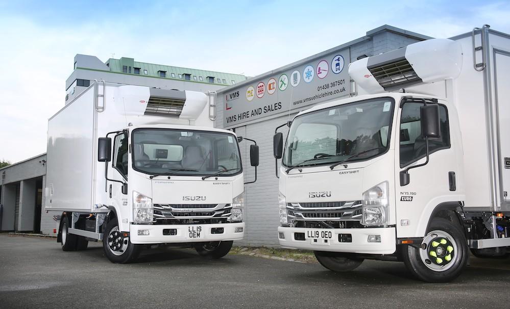VMS invests over £2m in fleet of new Isuzu refrigerated rental
