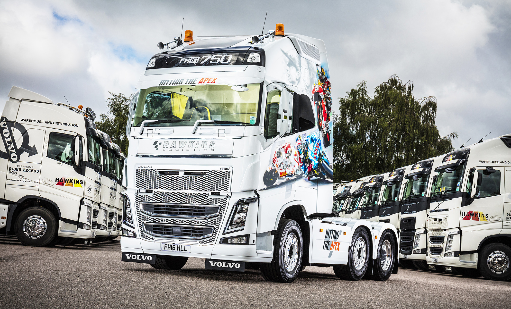 Flagship Volvo FH16-750 hits the apex for Hawkins Logistics | Fleet UK Haulier