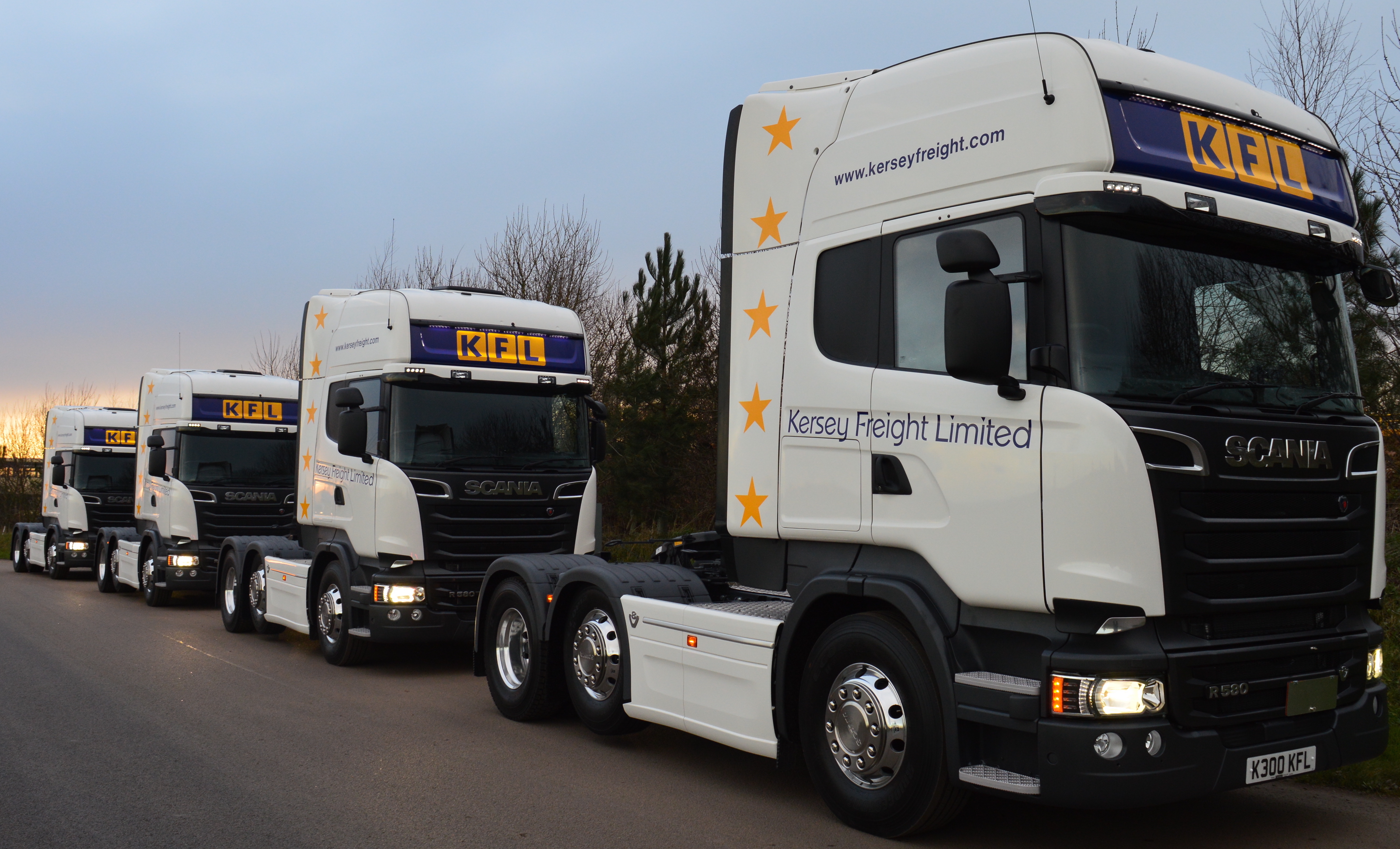 Bien connu Kersey Freight add four new Scania R580 V8's to growing fleet  SO67