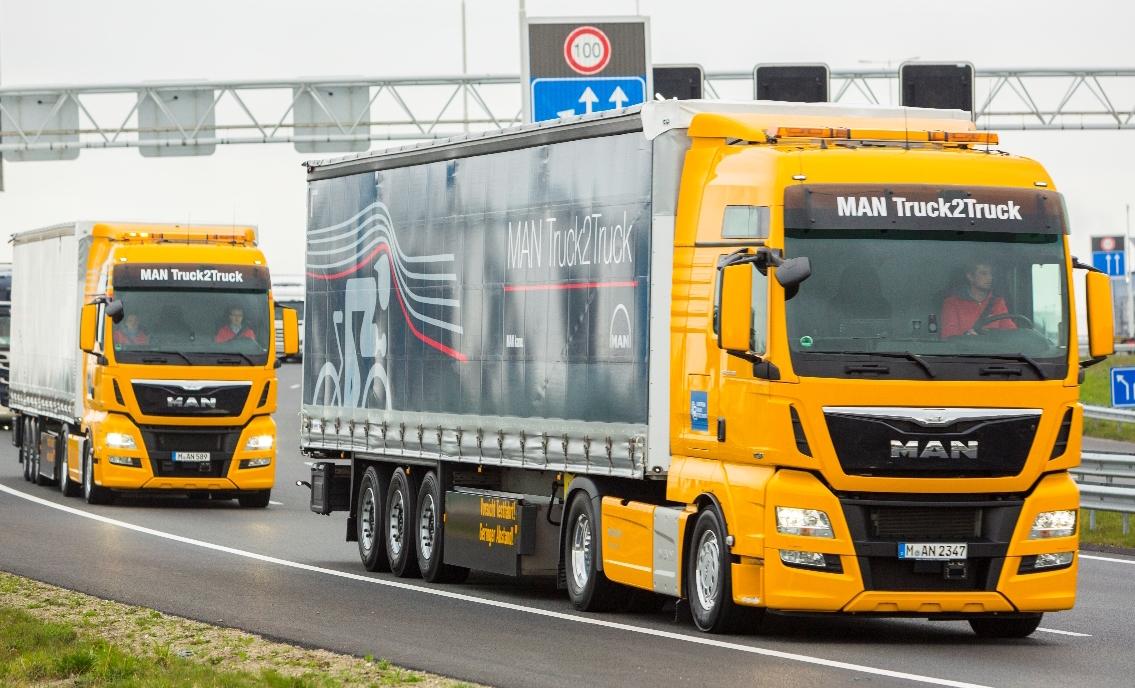 Man Truck2truck Platooning Challenge Platooning Uk Haulier