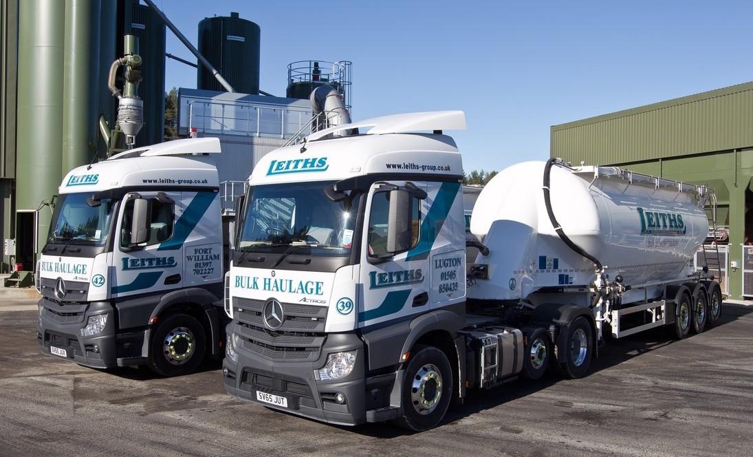Mercedes benz digs in with leiths fleet uk haulier for Mercedes benz fleet