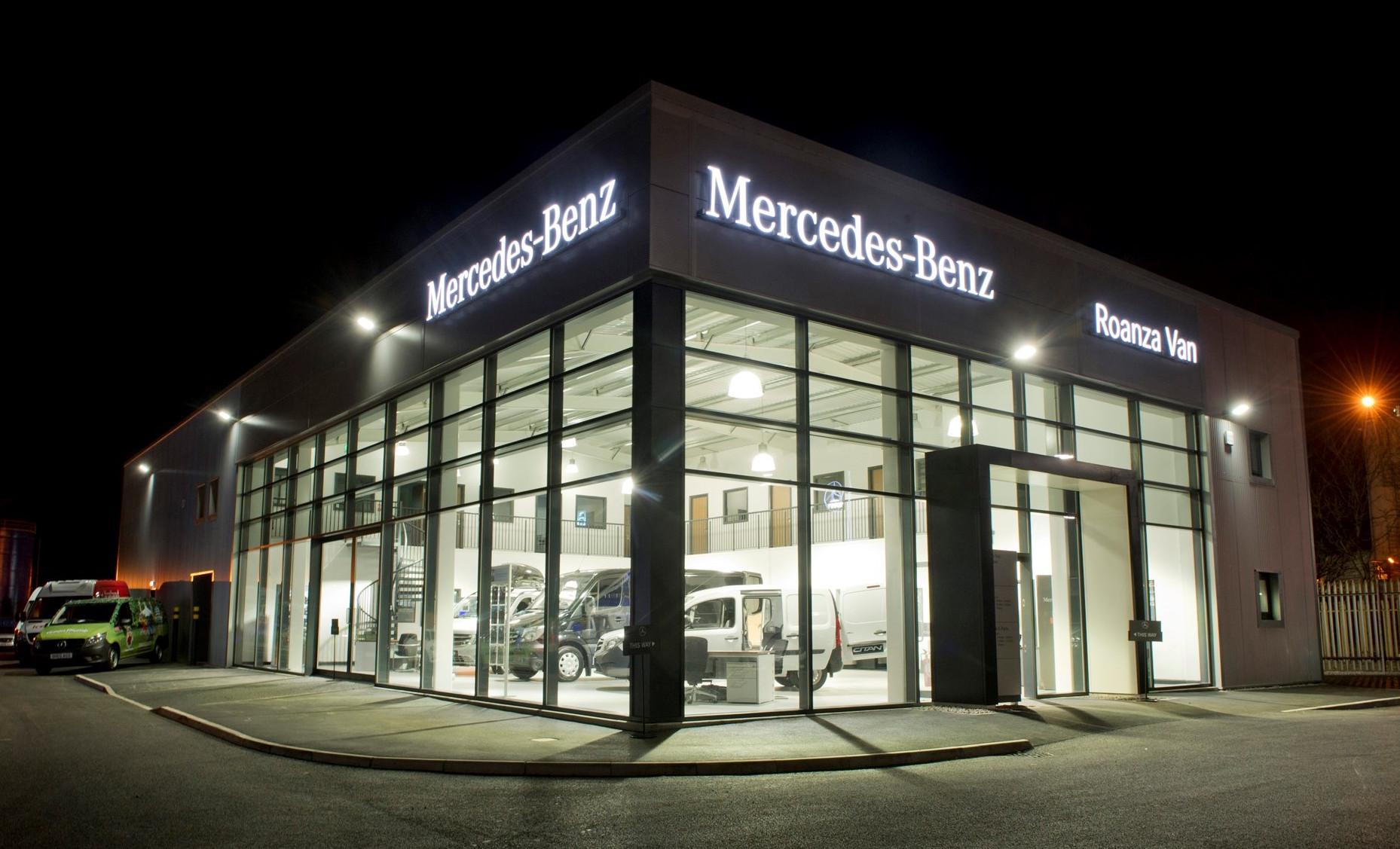 Mercedes benz dealer roanza truck van launches 1m for Mercedes benz dealer in brooklyn