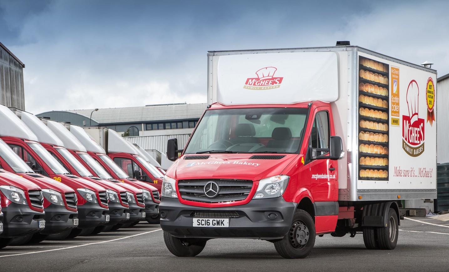 Insurance Mercedes Benz Sprinter Uk >> McGhee's Bakery is on a roll with Mercedes-Benz vans | Vans UK Haulier
