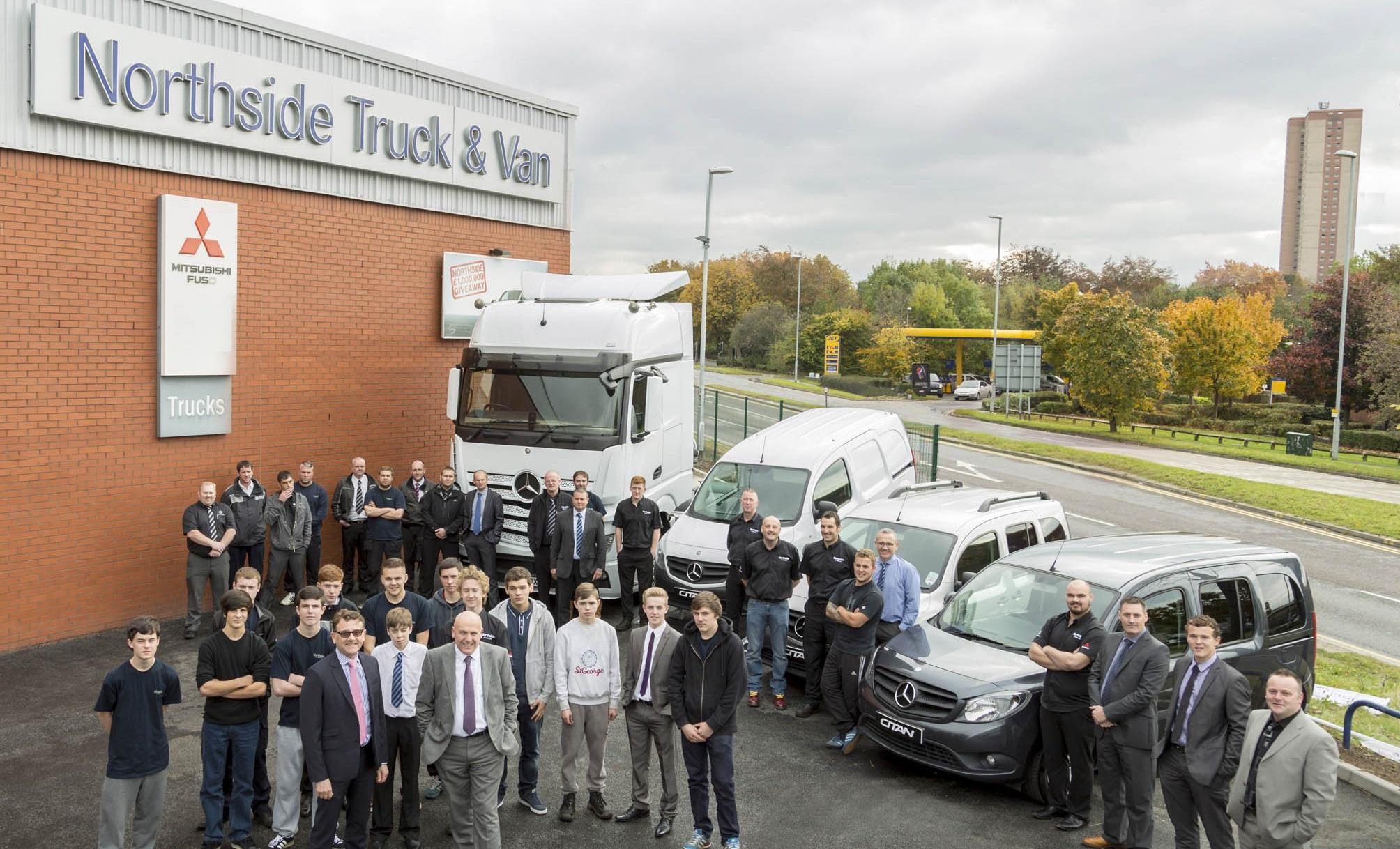 Mercedes benz dealer northside truck van wins coveted for Northside mercedes benz