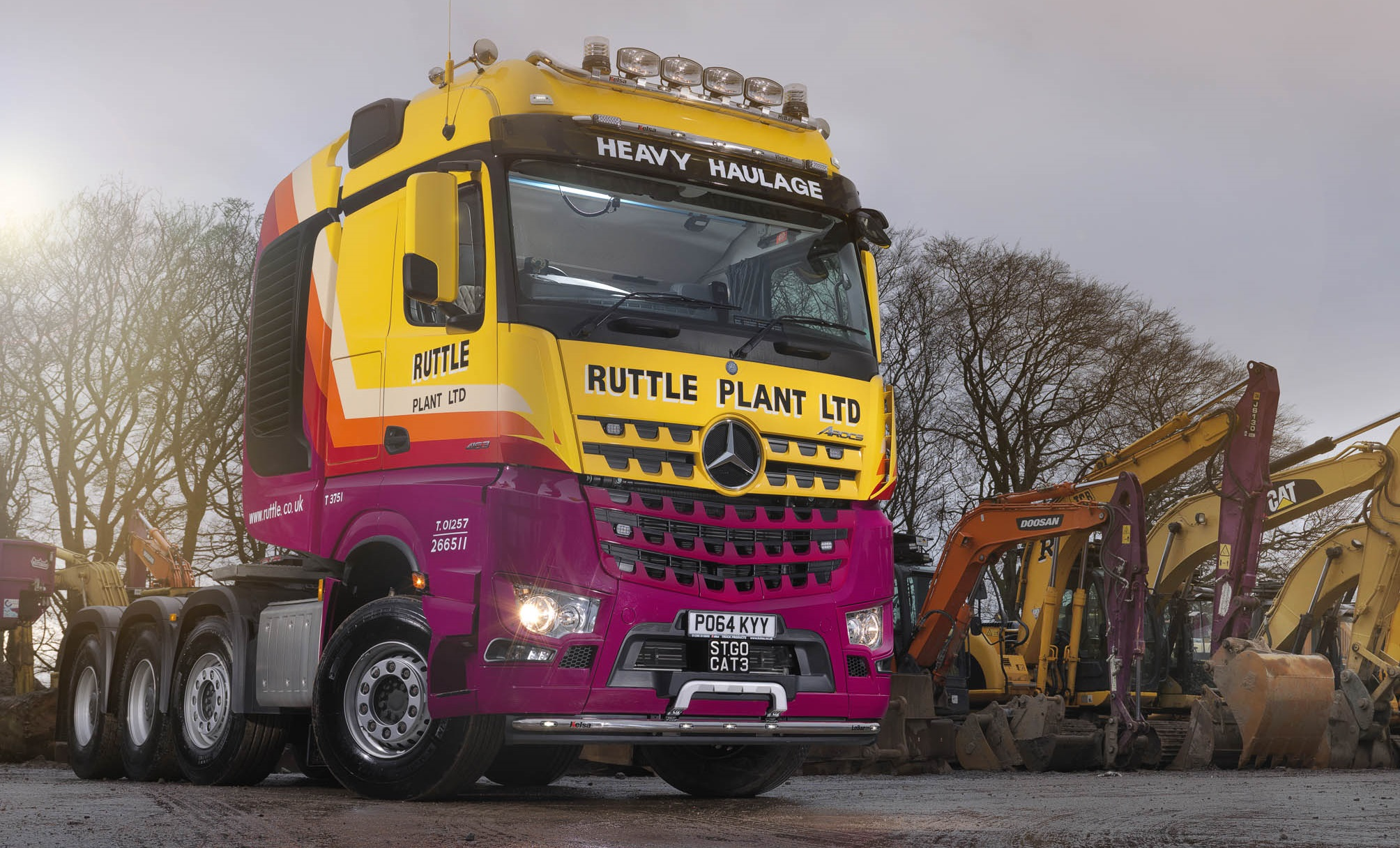 Heavy haulage specialist Ruttle Plant weighs in with mpg ...