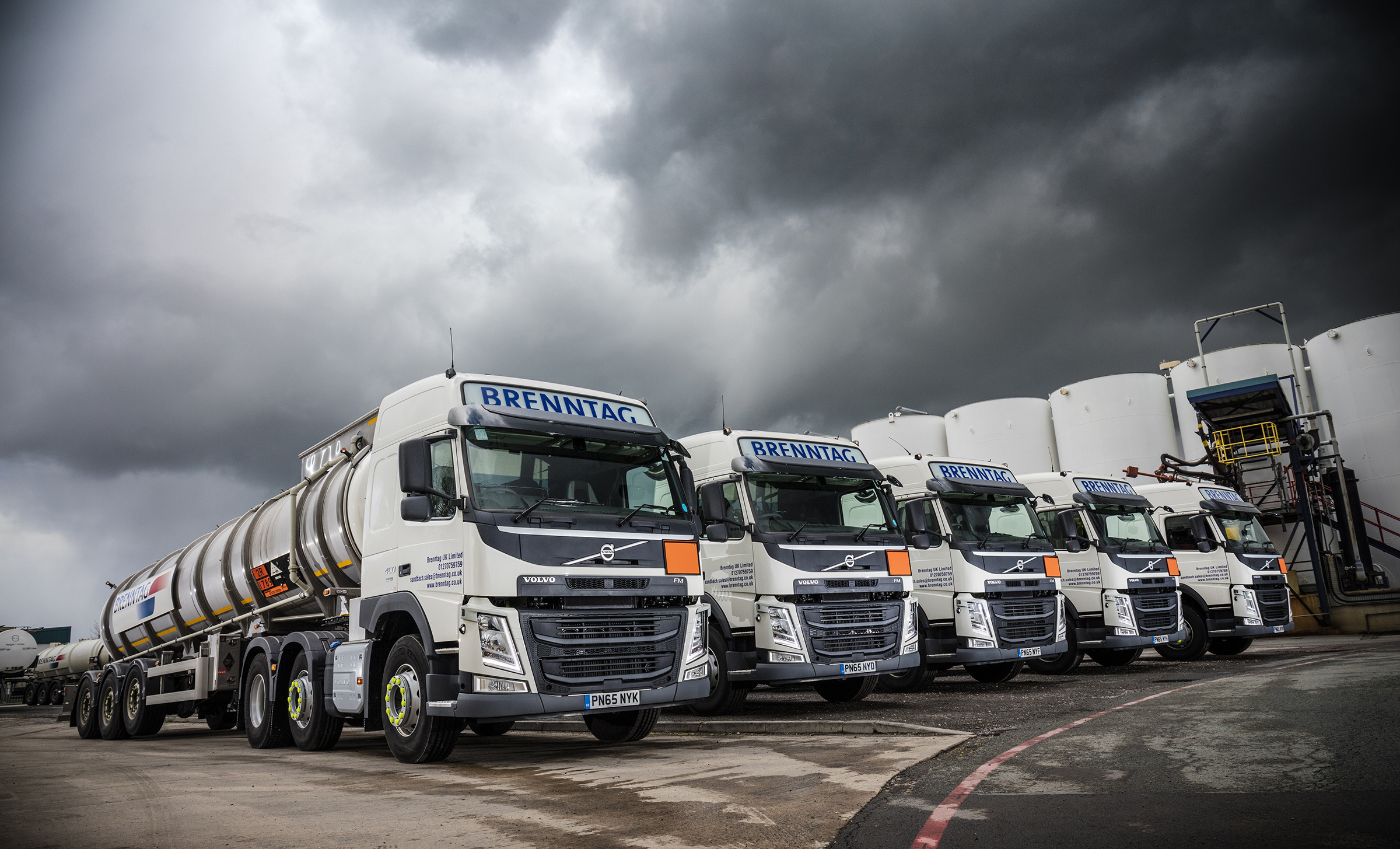 Safety, Sustainability and Support seal deal for twelve new Volvo FM tractor units for Brenntag ...