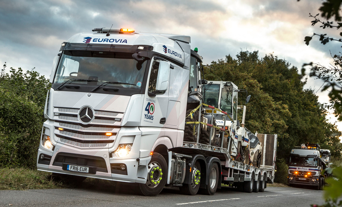 Eurovia Puts Safety First With Mercedes Benz Actros And