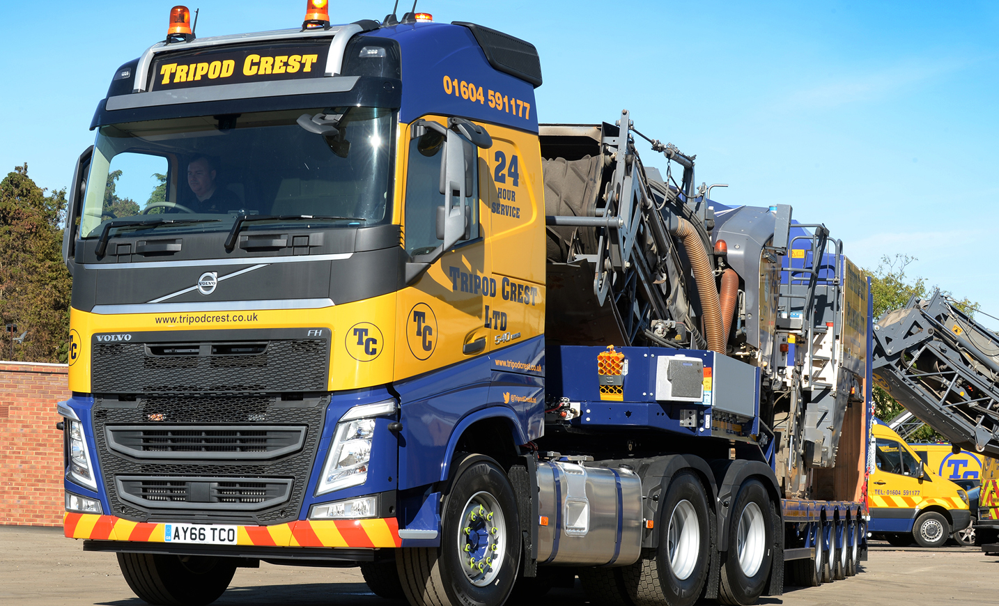 Three new Volvo FH for Tripod Crest used for transporting ...